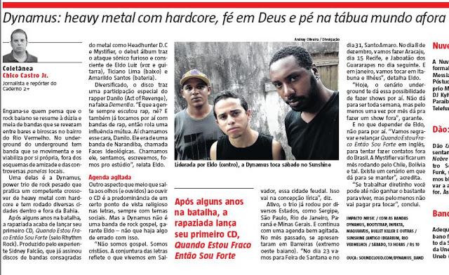Entrevista Dynamus - Jornal A Tarde